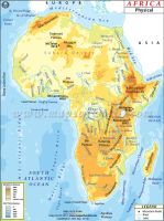 Physical Map of Africa by FringerFrankie