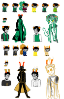 Let me tell you about my homestuck ocs -part2- by Flamingo-sama