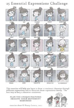 Korra chibis - 25 Essential Expressions Challenge by silverteahouse