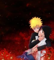 SasuNaru:Lycoris radiata by StarMoonCat