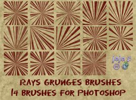 Rays Grunges Brushes by jojo-ojoj