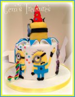 Despicable Me Cake, Banana?! by gertygetsgangster