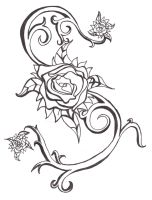 Tattoo Design :BandW: by Miscellaneously-Kina