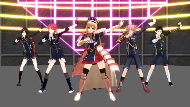 MMD Heavy Rotation By Midare and Taishogumi by Rayray0211