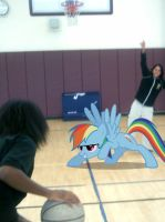Rainbow plays Basketball by Paris7500
