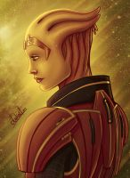 Color Study: Samara from Mass Effect by Lukael-Art