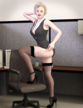 Redrobot3D 135 18 More Like This Office Pin Up Girl   I