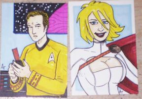 kirk powergirl sketch cards by phymns