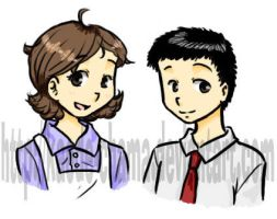 MS: Takashi's parents COLORED by Kaede-chama