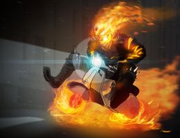 Vespa Ghost Rider by Dante6686