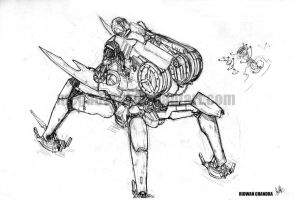Mecha - Corporal Sentry - Back by MeganeRid
