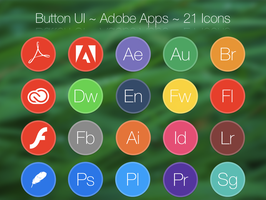 Button UI ~ Adobe Apps by BlackVariant