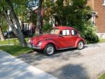 Red VW Beetle by FrenchSkinhead
