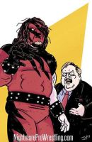 Kane and Paul Bearer - Commission by JonDavidGuerra