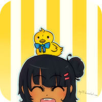 Aiko, and Mr. Happy ducky by digi775