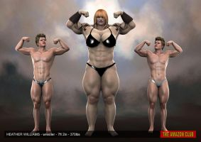 Heather Williams, wrestler - 7ft 2in - 370lbs - 03 by theamazonclub