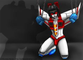 Chained Starscream by Vani-Fox