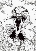 DC: Super-Villains - Silver Banshee Base Card Art by tonyperna