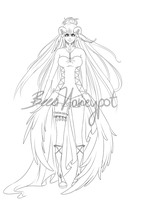 Stern~Wanderer: human form - WIP2 by BeesHoneypot