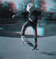 Kick Flip (anaglyph) by Phostructor