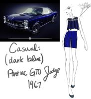 1967 (Dark Blue) Pontiac GTO Judge by GL-Gloria