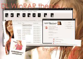 Demi Lovato theme for WinRAR by ICantStopTheRain