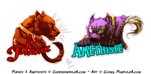 Badge - Phenix and Amethyste by Pample