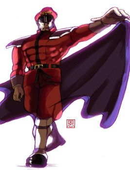 You'll fail to stave off my boredom - M.Bison Vega by Shadaloo1989