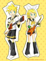 Electric guitars duel by MidoriGale