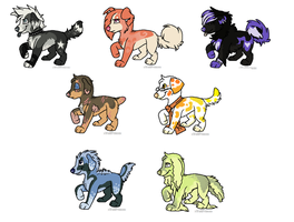 Puppeh Adopts by xWolfPrincex