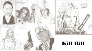 Kill Bill drawing Death list five by SBdrawings