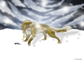 Leafpool: through the snow by Clobeebz