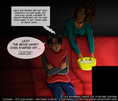 LeviHan-OTP Challenge-Watching A Movie the-phisch  by The-Phisch