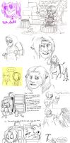 Amnesia doodles by unconventionalhill