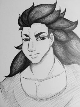 Late Night Doodle: Raditz by YukaTheDemon