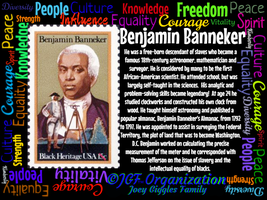 JGF Benjamin Banneker Poster - Black History Month by Kimberly-at-JGF