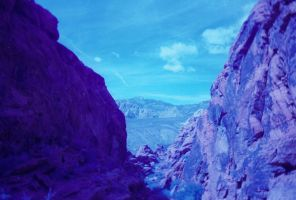 Redrock Canyon Blue by borgking001a