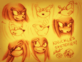 Knuckles Sketchies by GreenBlood12354