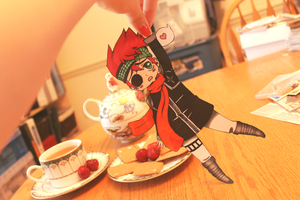 Tea time with Lavi paper-child by Dgrayscythe21