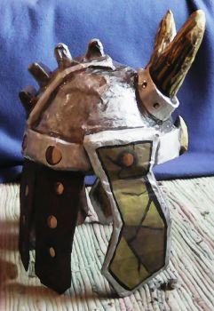 Scaled helmet right by Babonga