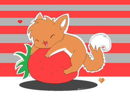 Mit loves strawberries ref by Foxxy-fire