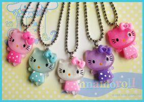 Kitty Dress Necklaces by cherryboop