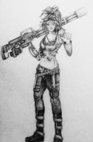 Minigun girl by supersonic-unicorn