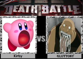 Death Battle Kirby vs Gluttony by Gatlinggundemon9