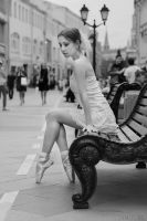 ballerina in the city by Nastarelie