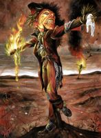 Burning Scarecrow by mlappas