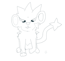 Luxray LineArt by Wolfdragon108