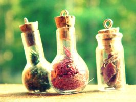 ::Fairy Bottles:: by crystallineCanis