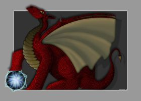 Red dragon by Dreamk8