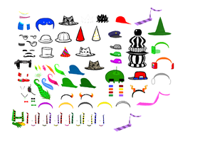 Homestuck Accessories Sprite Sheet Part 2 by blahjerry